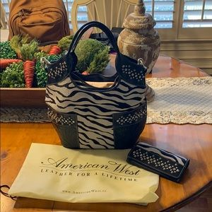 American West Over the shoulder purse & wallet